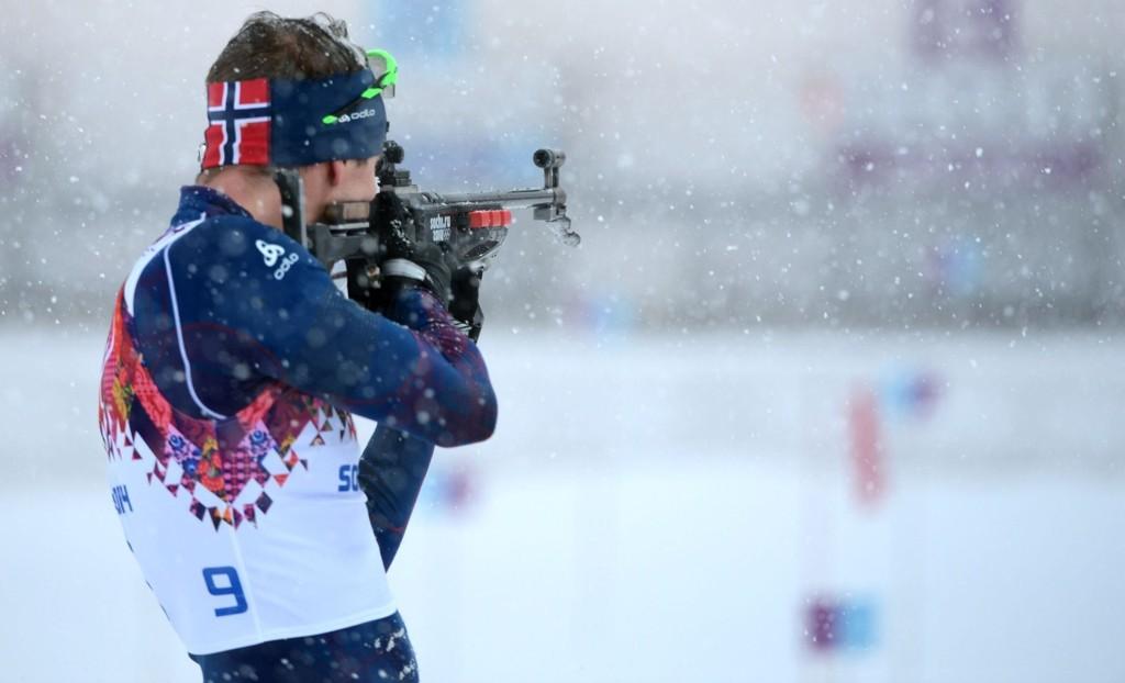 FULLT HUS: Emil Hegle Svendsen har ikke for vane å treffe alle blinkene i et løp, men gjorde det tirsdag.
