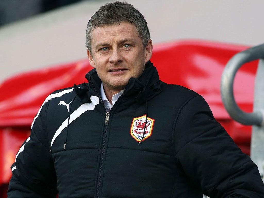 OPTIMISTISK: Ole Gunnar Solskjær mener den siste uka har vært den beste på treningsfeltet siden hans ankomst i Cardiff.