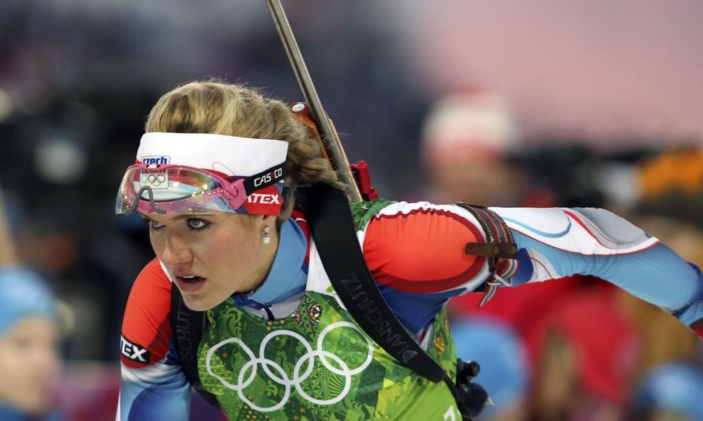ORDKNAPPE: De internasjonale skiskytterstjernene hadde lite å si om dopingskandalen i Sotsji. Her er tsjekkiske Gabriela Soukalova.
