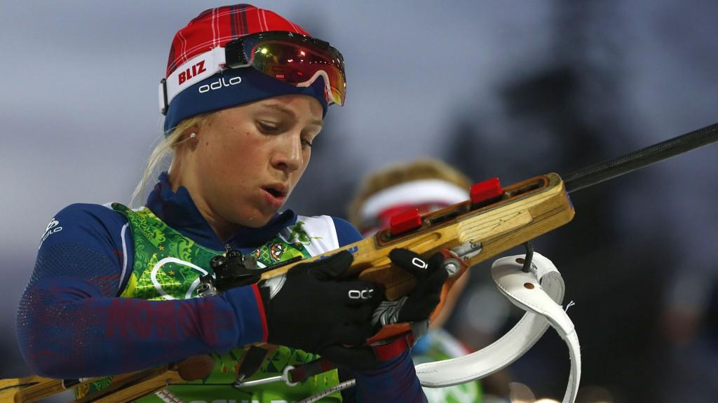 OPPGITT: Tiril Eckhoff hadde lite til overs for journalistenes dopingfokus etter stafetten. Foto: Michael Dalder / Reuters