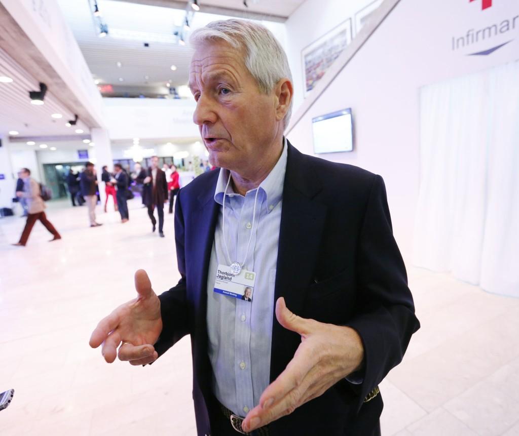 Thorbjørn Jagland stiller til gjenvalg som generalsekretær i Europarådet. Her fra Verdens økonomiske forum i Davos i januar.