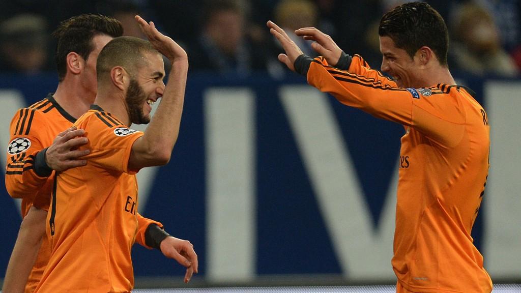 Gareth Bale, Karim Benzema og Cristiano Ronaldo står med 70 mål mellom seg denne sesongen.
