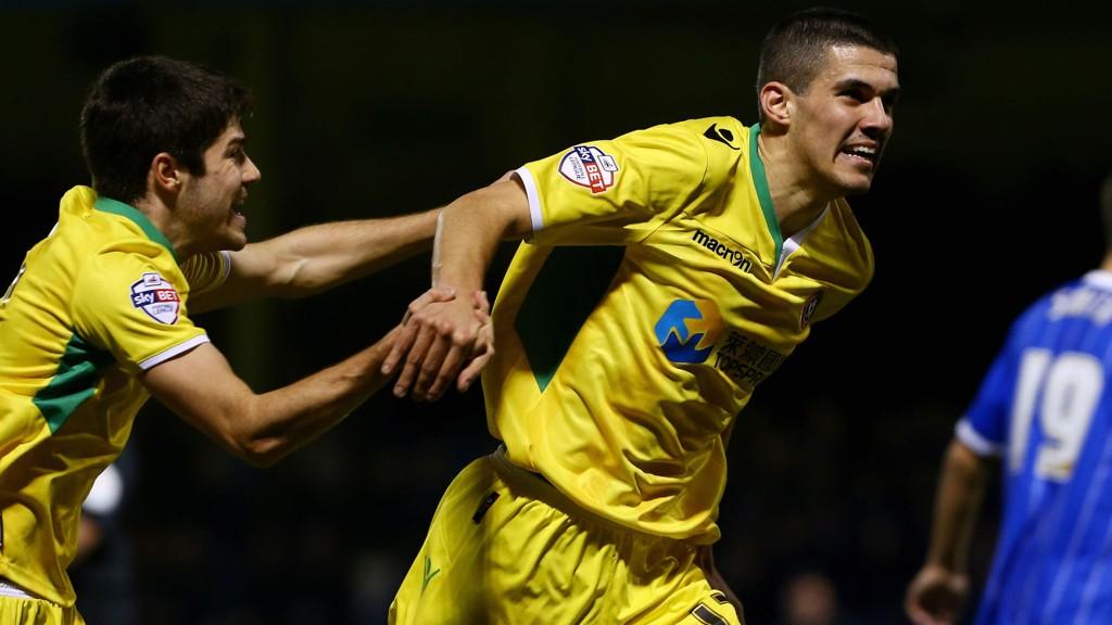 Sheffield Uniteds Conor Coady feirer sitt mål mot Gillingham.