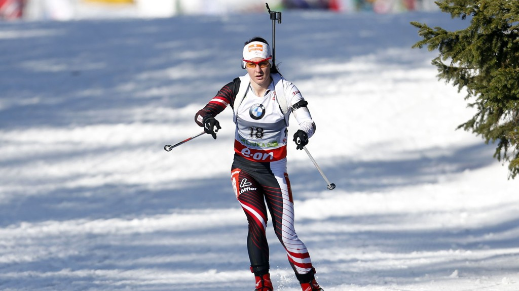 Katharina Innerhofer vant sprinten i Pokljuka i Slovenia torsdag.