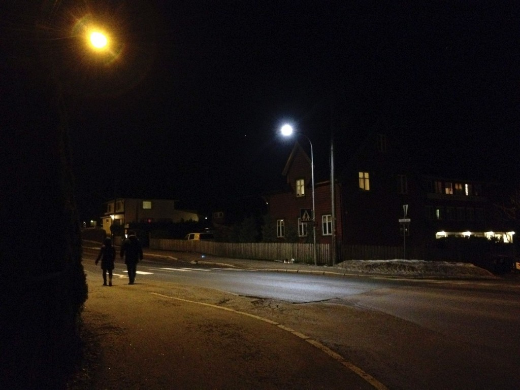 ENEBAKKVEIEN: Lokalt er det stor enighet om at belysningen i Enebakkveien kunne vært bedre, men ifølge samferdselsbyråden foreligger det ingen umiddelbare planer om å utbedre belysningen. Foto: Nina Schyberg Olsen