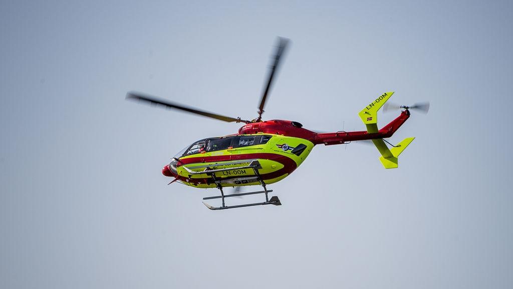 FUNNET AV FAREN: Jenta ble fløyet til Rikshospitalet i luftambulanse.