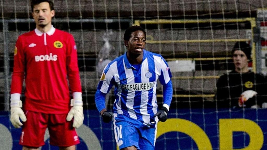 SCORET: Mushaga Bakenga havnet på scoringslisten mot Viborg. Her fra en tidligere kamp.