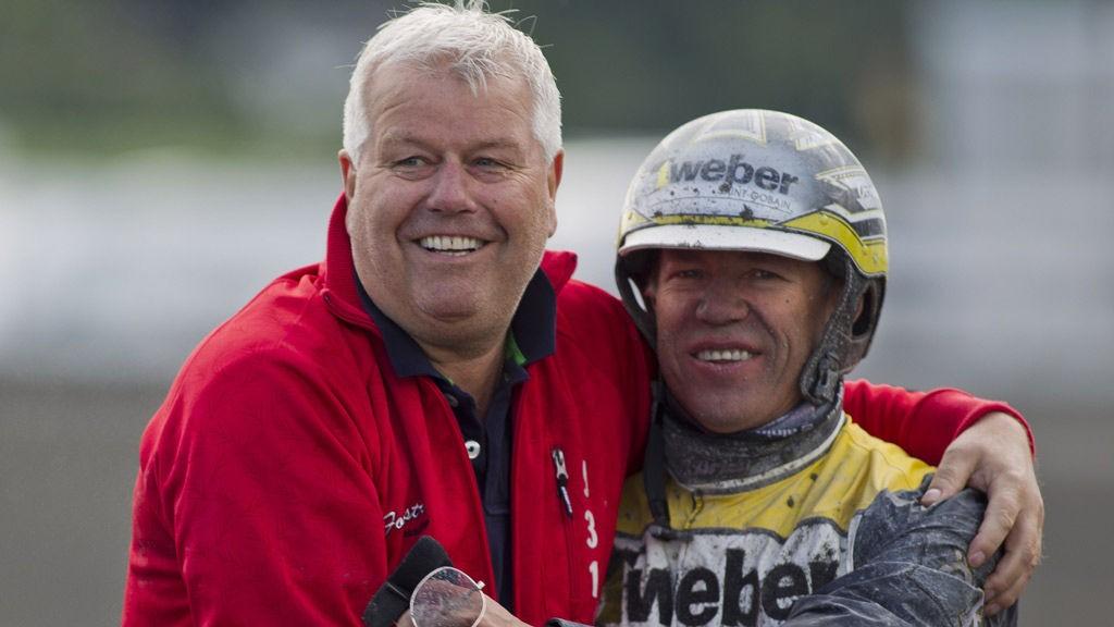 Roger Walmann og hans førstekusk Ørjan Kihlstrøm.