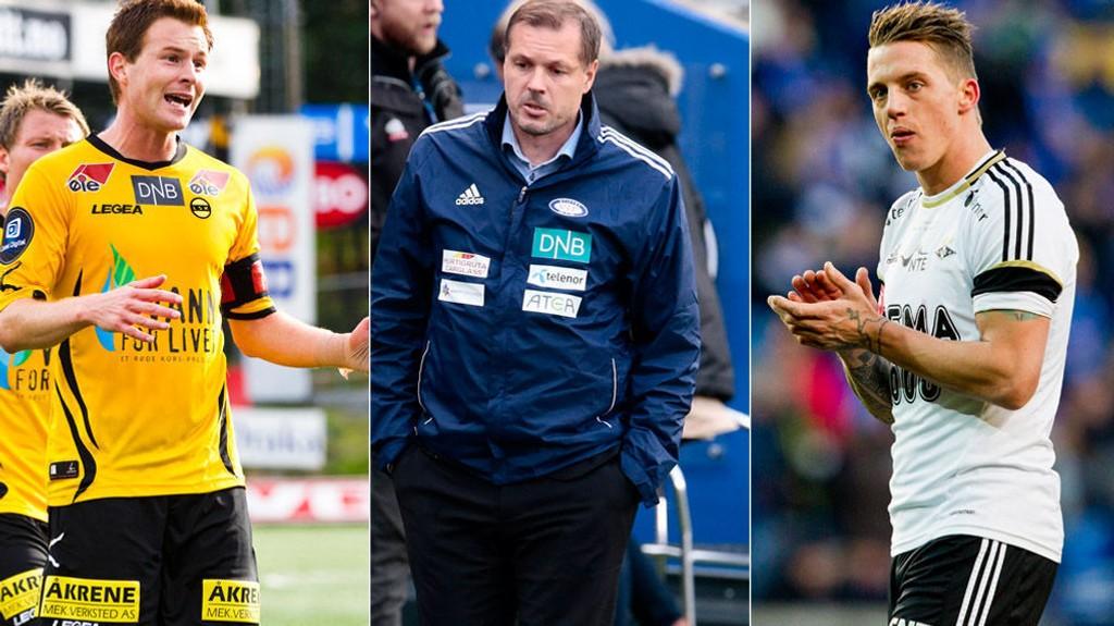 PROFILER: Petter Vaagan Moen, Kjetil Rekdal og Nicki Bille Nielsen kan alle sette sitt preg på Tippeligaen.