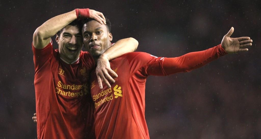 SUPERDUO: Luis Suarez og Daniel Sturridge har virkelig funnet tonen sammen i Liverpool.