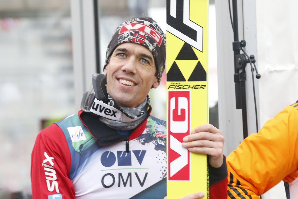 Anders Bardal ligger på annenplass etter to av fire omganger i skiflygings-VM i Tsjekkia. Her er han fra hopprennet i Holmenkollen sist helg.