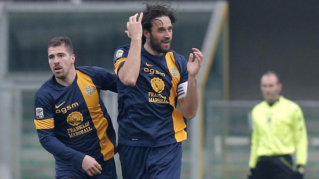 Luca Toni har vært i god form for Verona denne sesongen.
