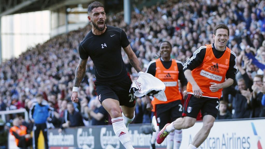 ÅRETS VIKTIGSTE MÅL? Ashkan Dejagah feiret ellevilt da Fulham fikk det etterlengtede ledermålet mot Newcastle.