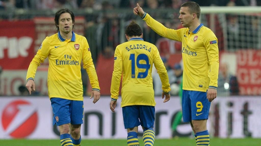 Lukas Podolski og Tomas Rosicky kan få en nøkkelrolle i søndagens derby.