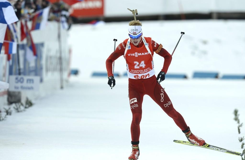 VANT: Johannes Thingnes Bø vant sitt tredje renn i Kontiolahti.