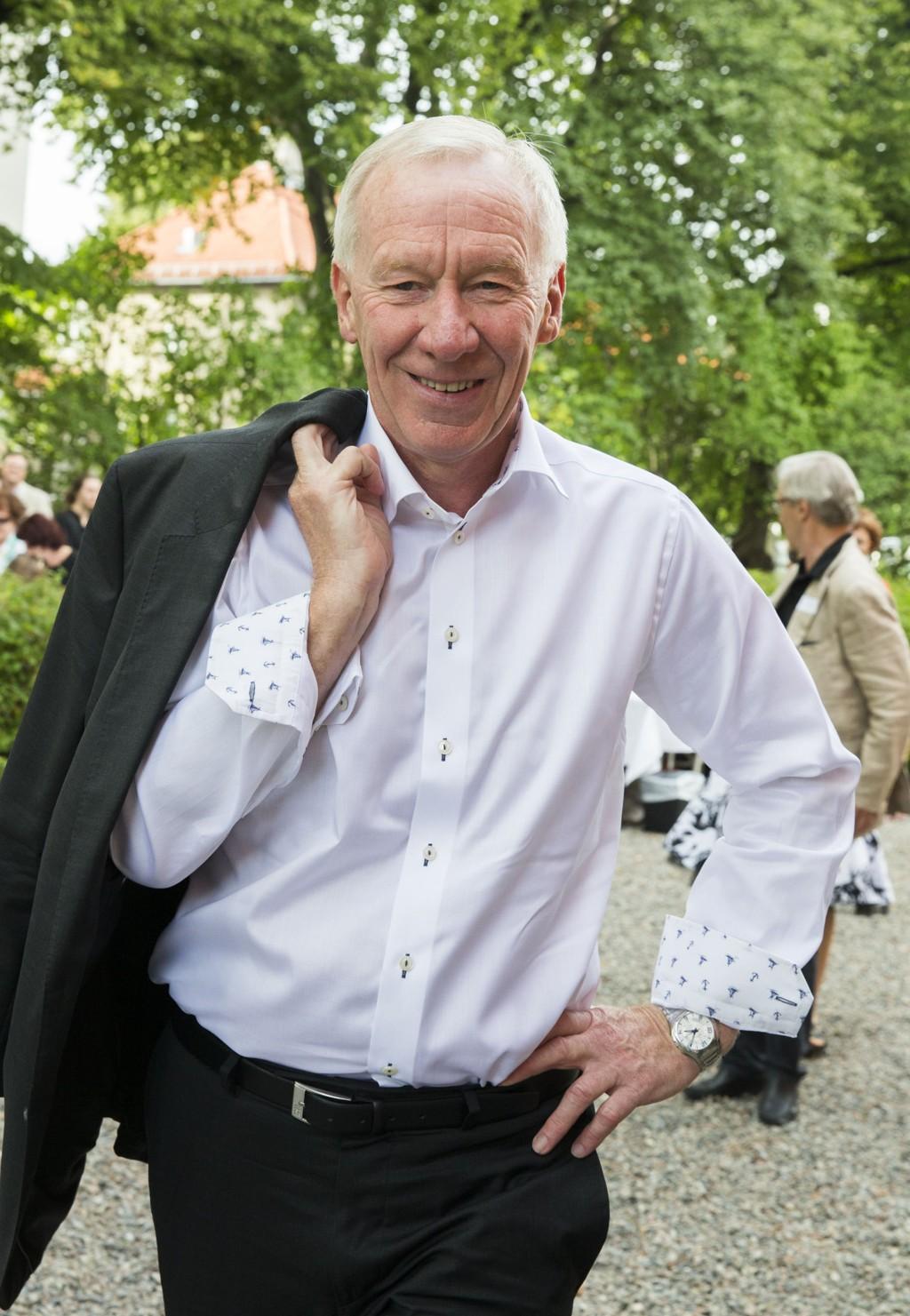 Oslo 20130829. Alf Hildrum på hagefesten til Aschehoug forlag torsdag ettermiddag Foto: Berit Roald / NTB scanpix