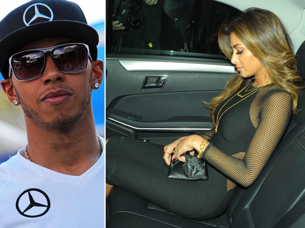 KJENDISPAR: Men Lewis Hamilton og Nicole Scherzinger skal ikke gifte seg.