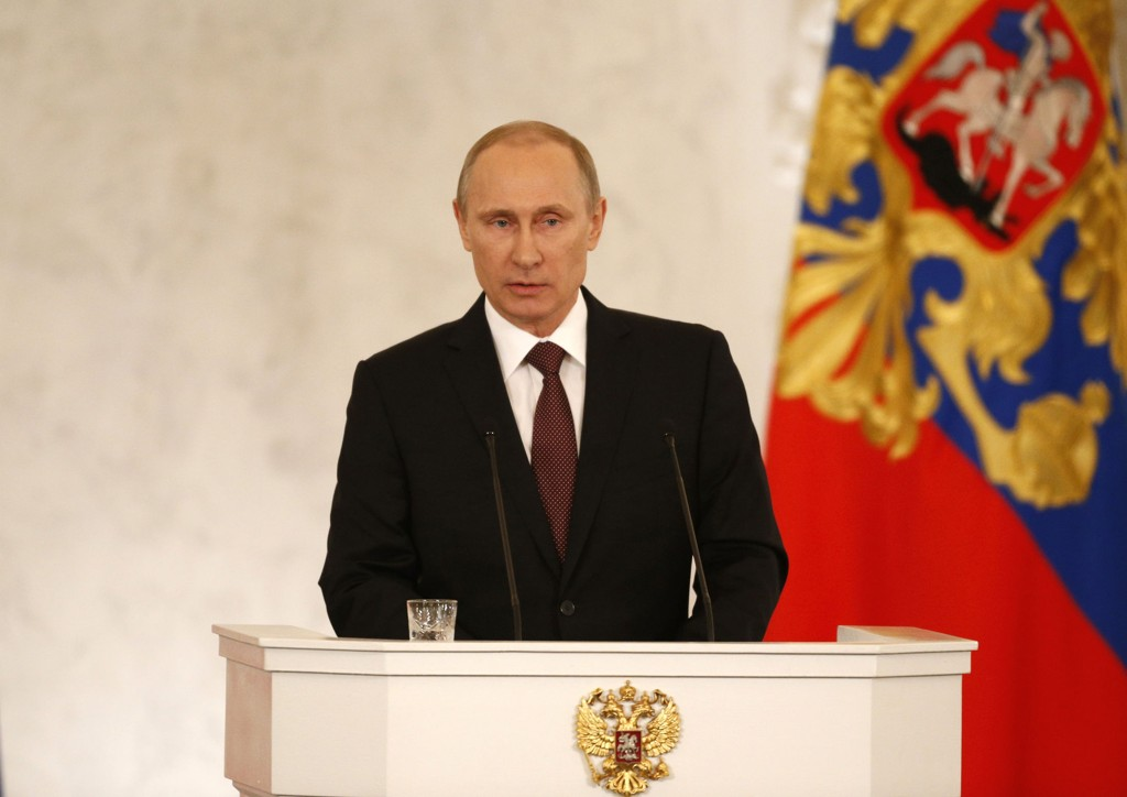 Russlands president talte til nasjonalforsamlingen tirsdag.