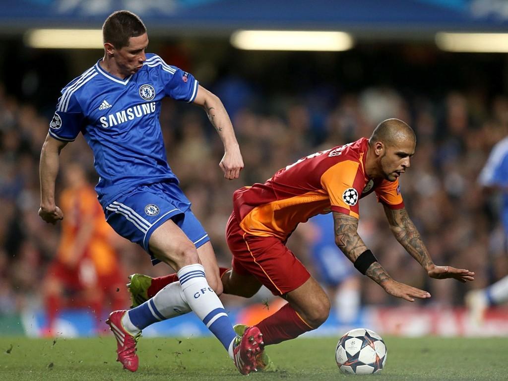 INTER(ESSERT): Representanter fra Inter fulgte nøye med da Fernando Torres ble byttet inn mot Galatasaray tirsdag.