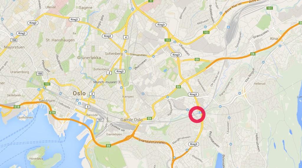 En bil og en sykkel krasjet på Brynseng fredag morgen.