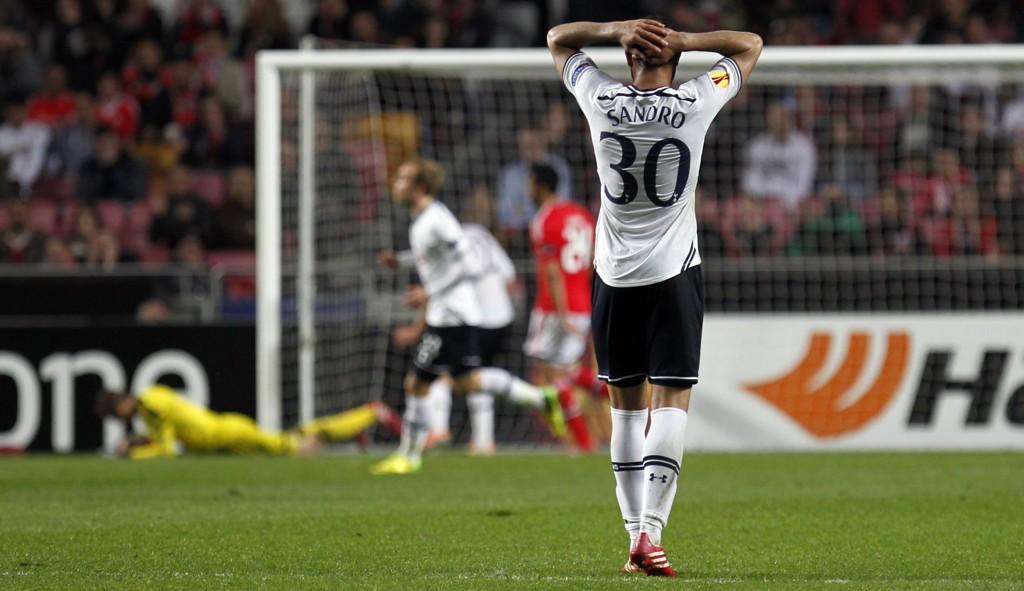 TAP: Tottenham røk hodestups ut av Europa League mot Benfica.