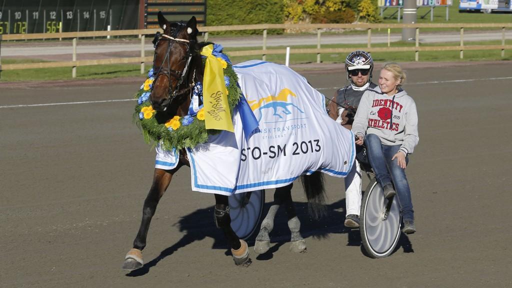 Dileva Käll og Daniel Reden etter å ha vunnet sto-SM i 2013.