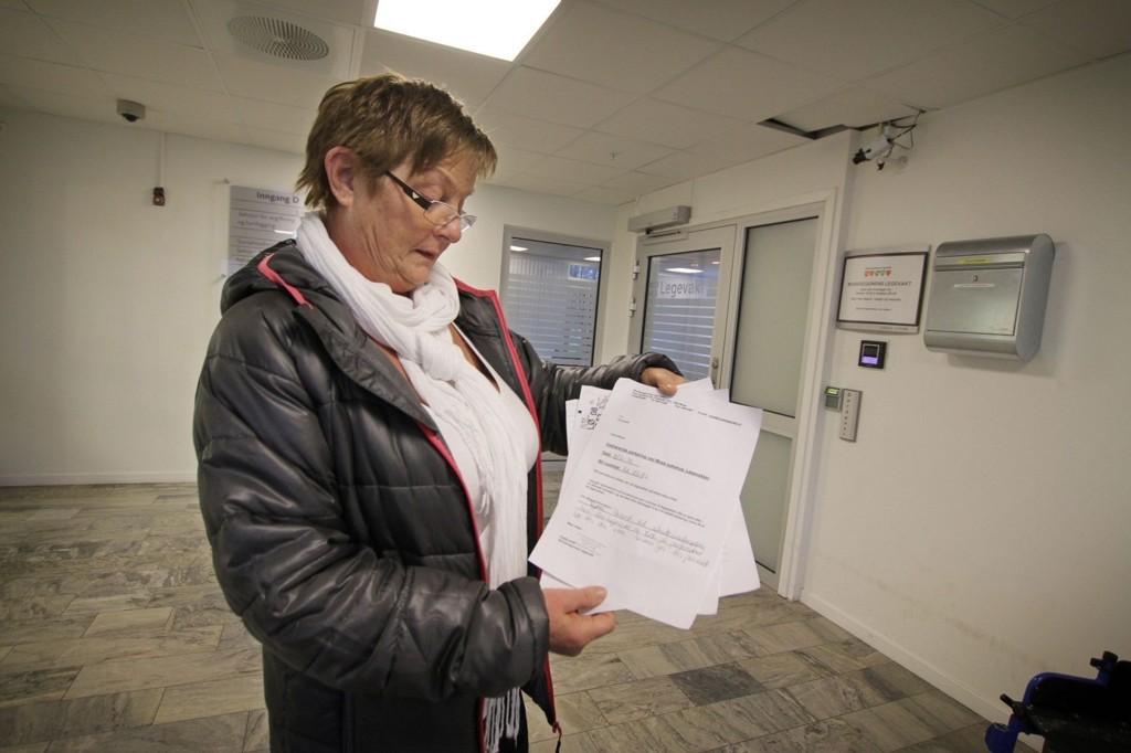 Åse Korsmo klagde til Europark, men fikk beskjed om at det ikke holdt med en uttalelse fra legevakten.