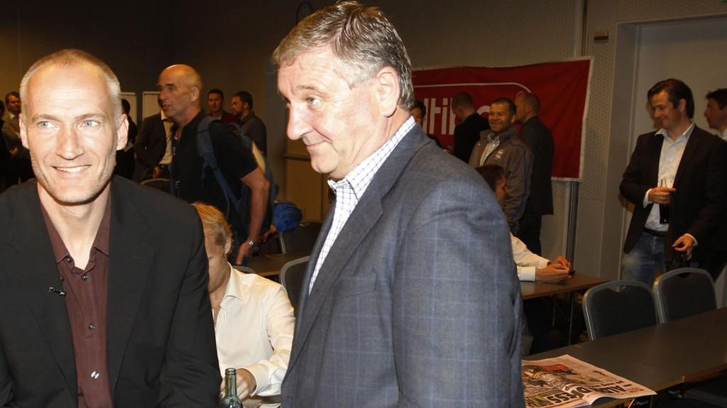 FERDIG: Bjørn Taalesen er ferdig som TV 2s sportssjef. Her sammen med Erik Thorstvedt (til venstre).
