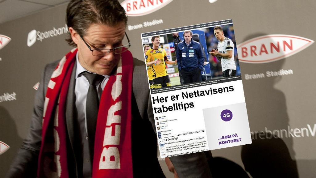 OMDISKUTERT TABELL: Odd-trener Dag-Eilev Fagermo mener blant annet at vi plasserer Brann og Rikard Norling (bildet) altfor høyt.