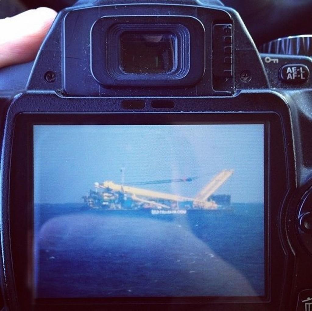 Dette bildet forklarer hvorfor det kom rykter om en flystyrt utenfor kysten av Gran Canaria.