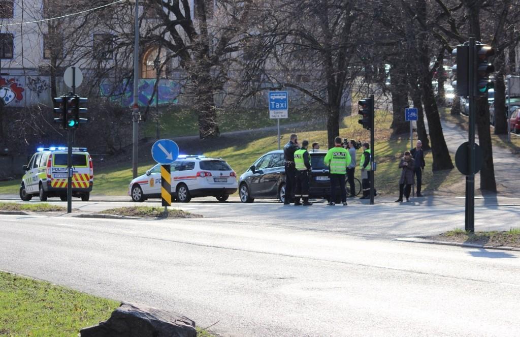 PÅKJØRT: Ulykken skjedde i 14-tiden.