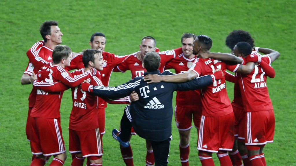 SERIEMESTER: Bayern München avgjorde Bundesliga rekordtidlig, med sju kamper igjen av sesongen.