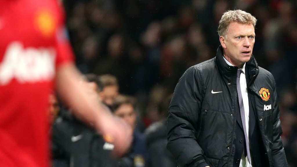 UNDER PRESS: David Moyes' jobb i Manchester United henger i en tynn tråd.