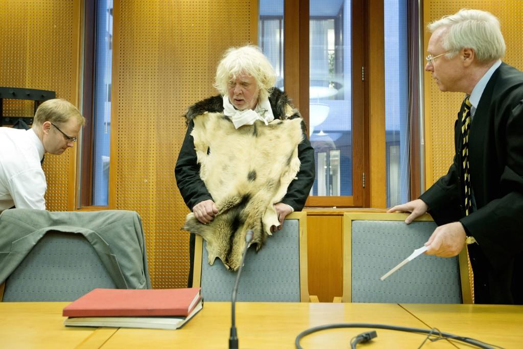 TAPTE: Her er Odd Nerdrum da saken ble behandlet i Oslo tingrett. Kunstneren anket, men har nå tapt.