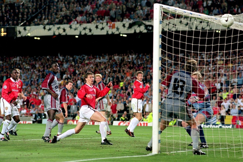 TIDENES COMEBACK: Ole Gunnar Solskjær og United snudde 0-1 til 2-1 i Champions League-finalen i 1999.