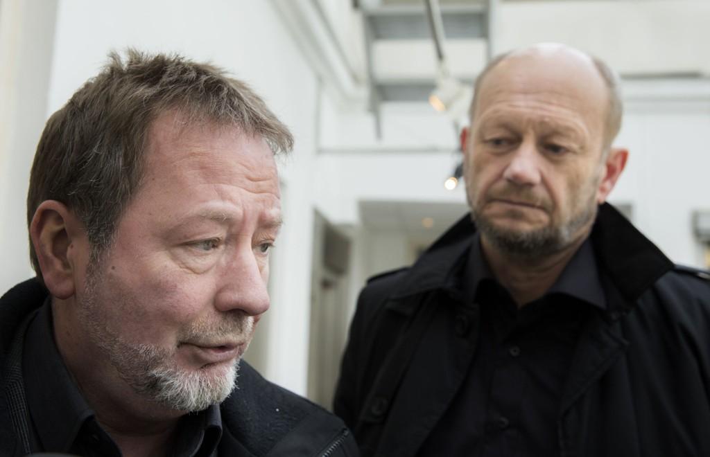 Leder i Norsk industri Stein Lier Hansen (t.h.) og leder i fellesforbundet Arve Bakke har forhandlet i snart en måned. Natt til onsdag mekles det på overtid.