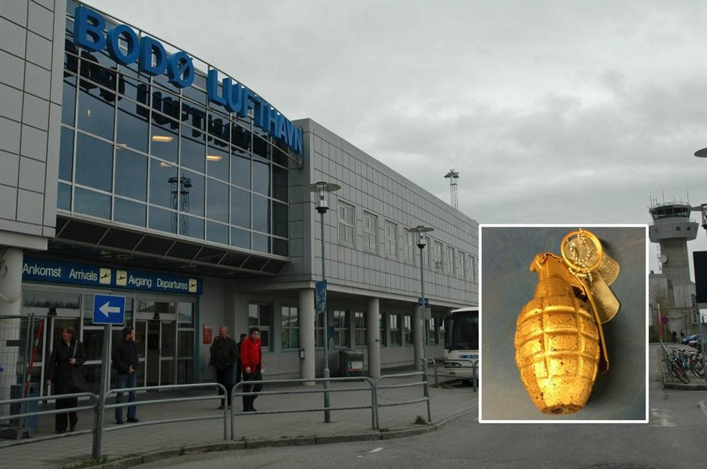 Flyplassen i Bodø ble evakuert etter at man har funnet en granatlignende gjenstand i bagasje.