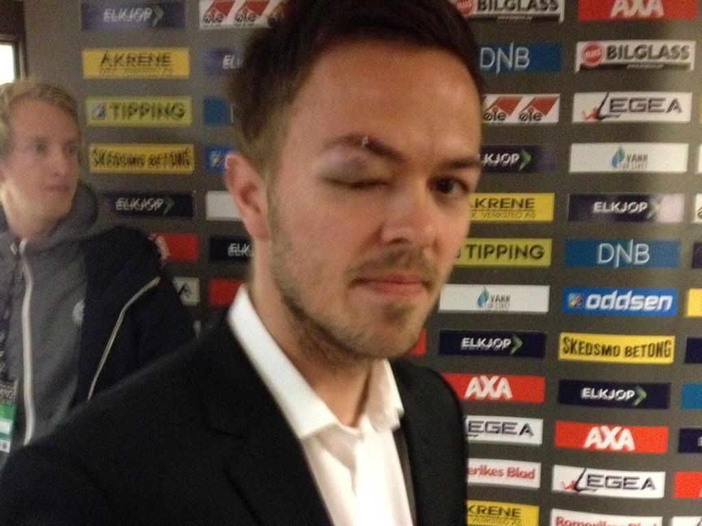 DONALD-KUL: Palmi Rafn Palmason fikk seg en skikkelig trøkk i kampen mot Sandnes Ulf.