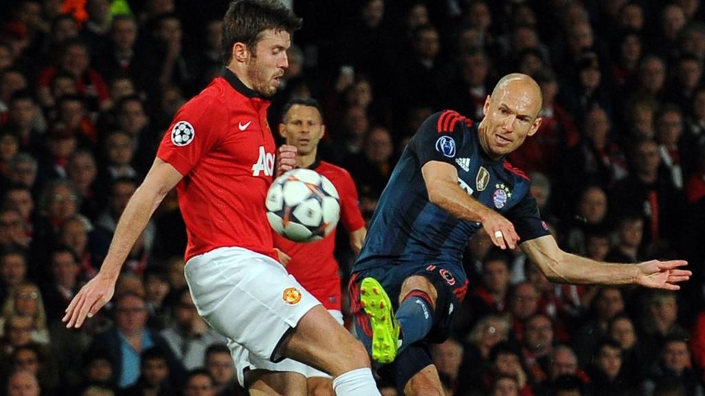 Arjen Robben kom til mange sjanser i det første kvartfinalemøtet mellom Manchester United og Bayern München.