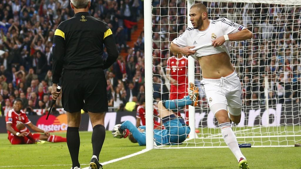Karim Benzema ble den store Real-helten i den første semifinalen. Men tviler på at han og lagkameratene har grunn til å juble etter kampslutt på Allianz Arena.