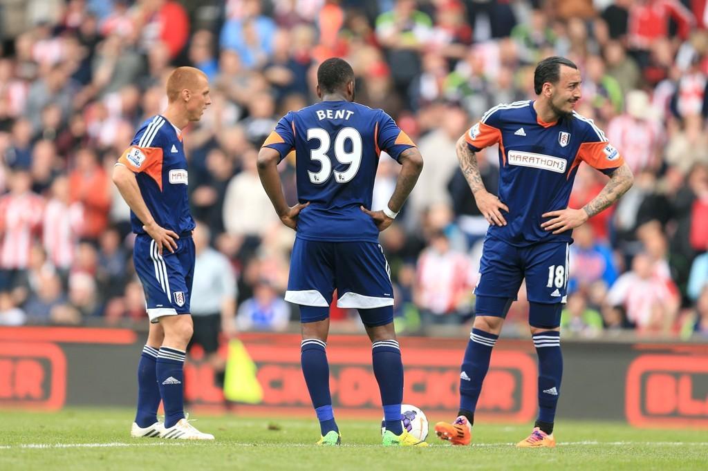 RYKKER NED: Fulham ble klare for nedrykk etter 4-1-taper mot Stoke lørdag.