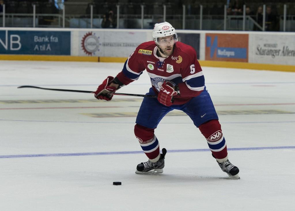 TAPTE: Jonas Holøs scoret ett av de norske målene i tapet mot Slovakia.