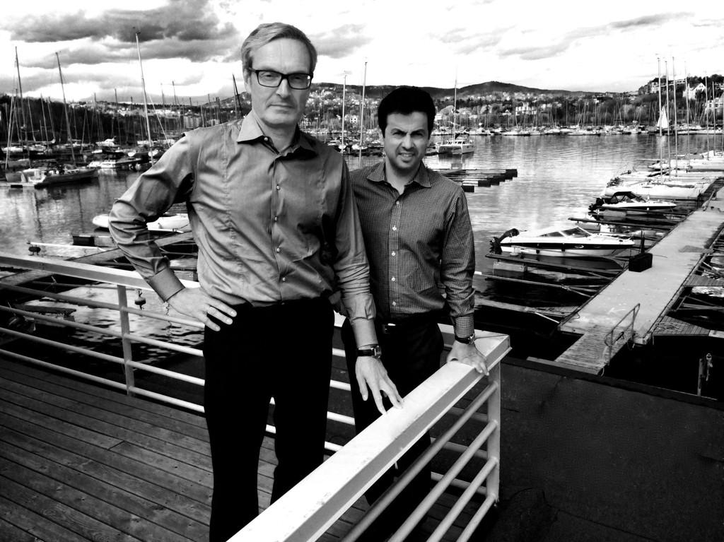 De to hjernene bak forvaltningen av Sundt-familiens milliardimperium, Leiv Askvig og Jacob Iqbal.