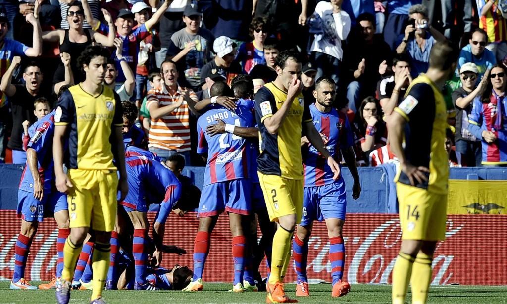 SMELL: Atlético Madrid gikk på et overraskende tap borte mot Levante.