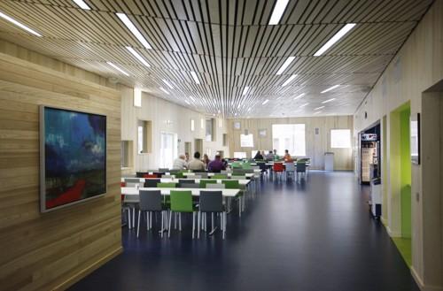 En fristende kantine innbyr til gode matvaner. Her Meteorologisk institutt på Blinderen i Oslo.