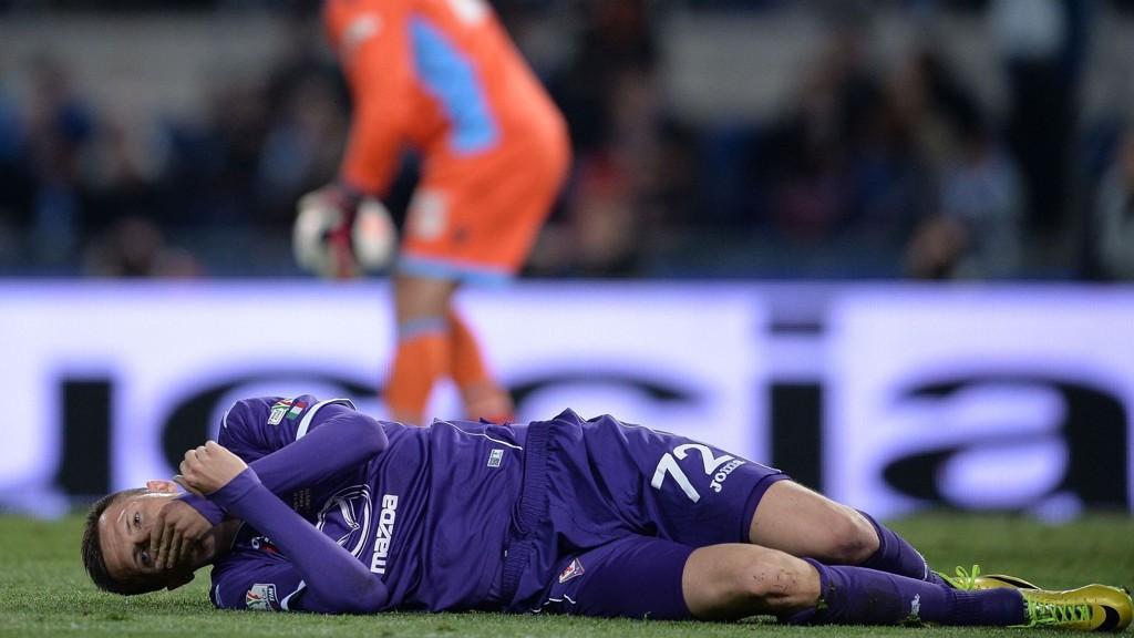 Fiorentinas slovenske midtbanespiller Josip Ilicic var en slagen mann etter cuptapet mot Napoli.