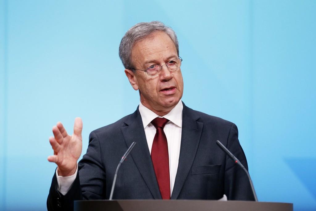 Norges Bank med sentralbanksjef Øystein Olsen i spissen redegjør torsdag for Norges Banks beslutning.