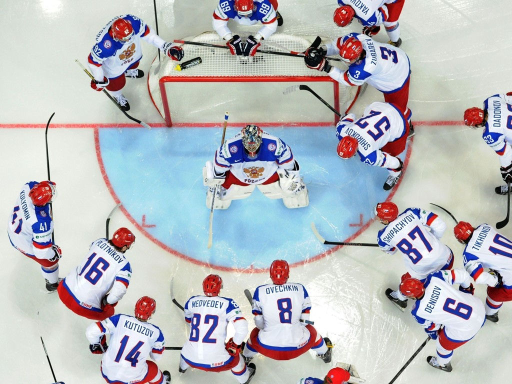 GOD START: Russland fikk en god start på hockey-VM fredag.