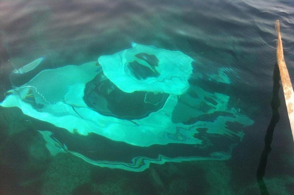 FUKTIG: Båten sank rett til bunns. Foto: Nils H. Hansen