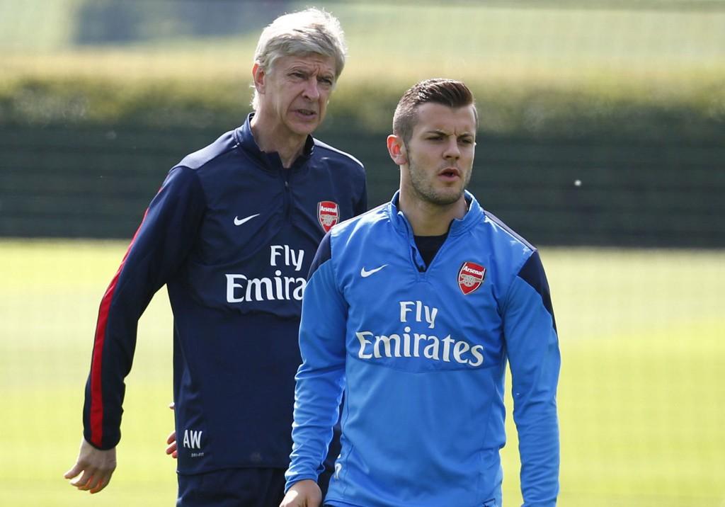 FINALE: Arsene Wenger og Jack Wilshere er klare for FA-cupfinalen.